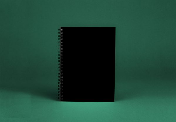Blank Notebook Black Softcover