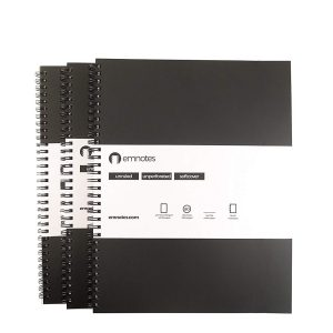 Emnotes Unruled Blank Notebook Without Lines, 8.5 x 11 inches, 80 Sheets, Softcover
